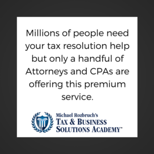 CPA Attorneys Tax Resolution Services Business