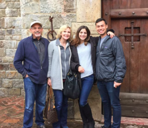 With Roslyn, our daughter and her boyfriend in Napa, CA.