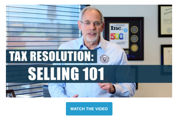 Michael Rozbruch Tax Resolution Selling Strategy