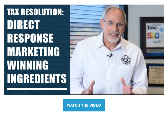 Michael Rozbruch: Tax Resolution Direct Marketing Success