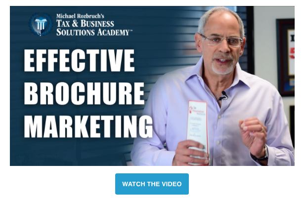Michael Rozbruch Effective Brochure Marketing for Tax Professionals