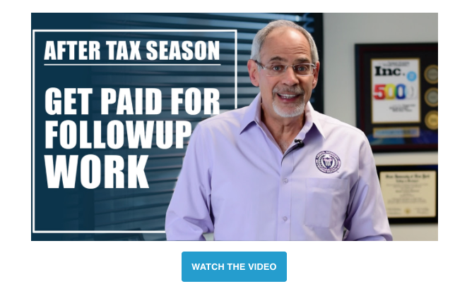Michael Rozbruch Video-After Tax Season-Getting Paid for Follow-up Work